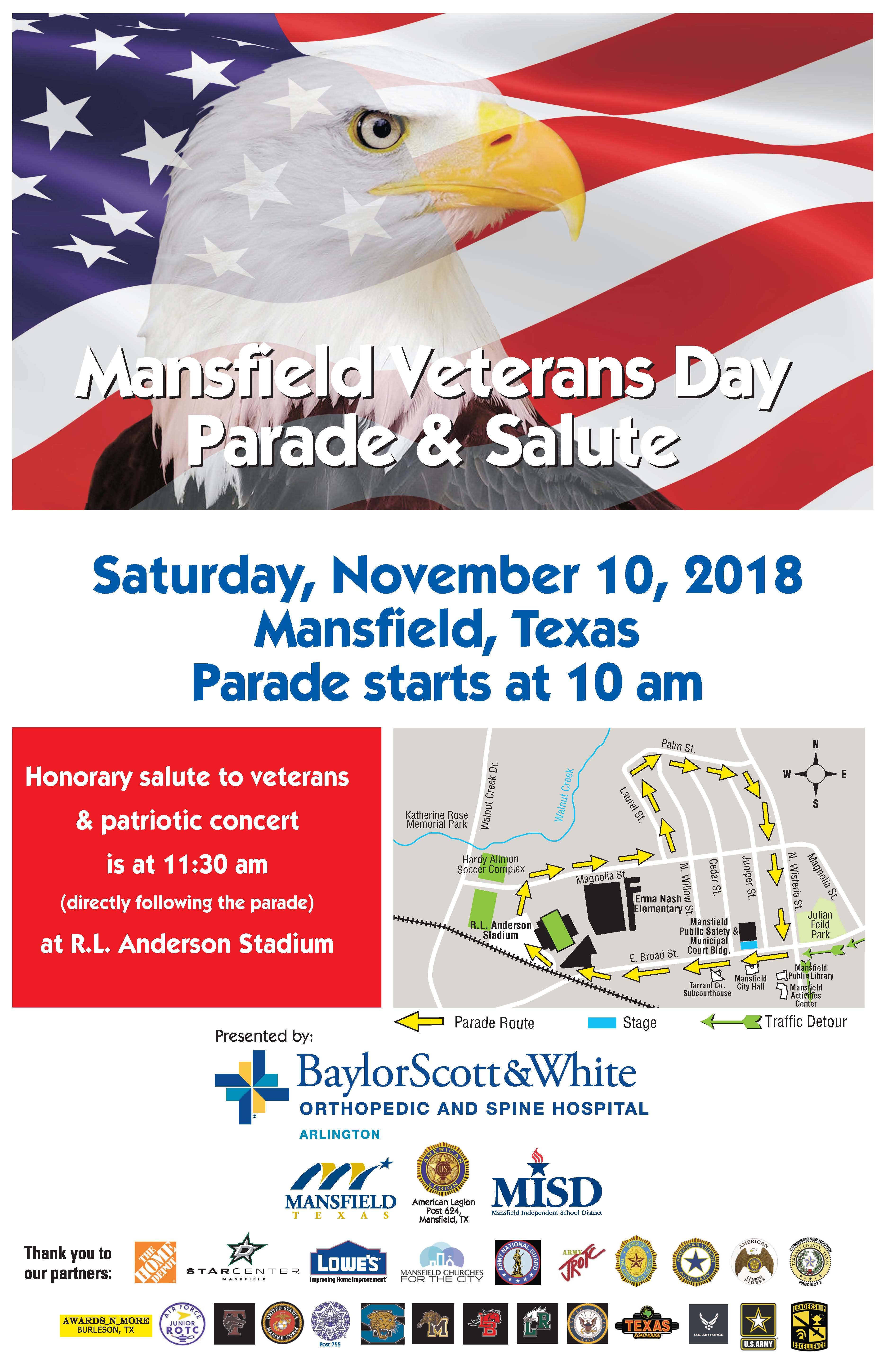 2018 Veterans Parade flyer