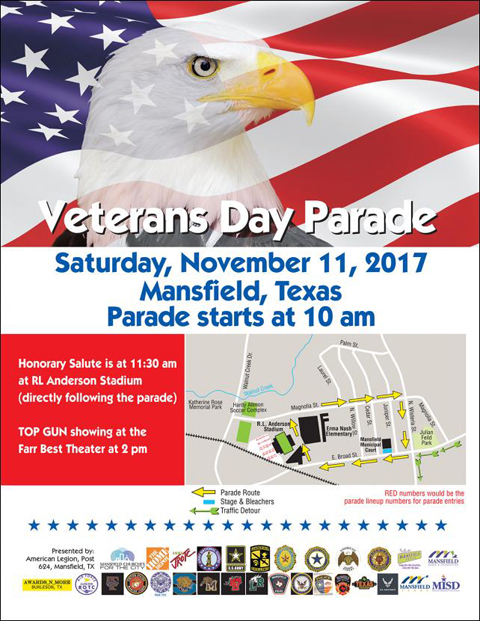 Photo of Veteran's Day Event Flyer